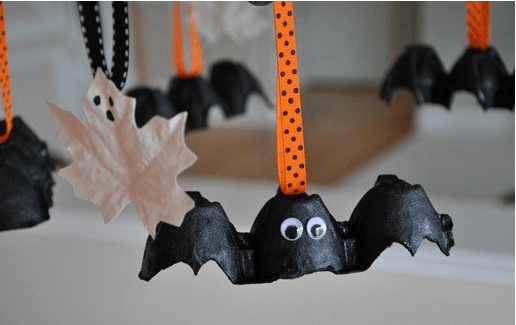 Летучие мыши на Хэллоуин своими руками