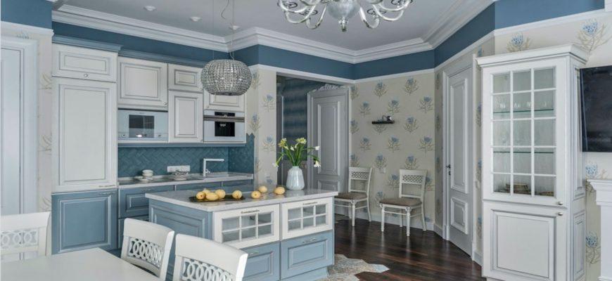 Дизайн интерьера кухни в современном классическом стиле фото